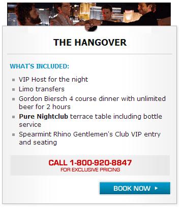 las vegas hangover package
