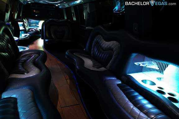 Vegas biggest limousine inside