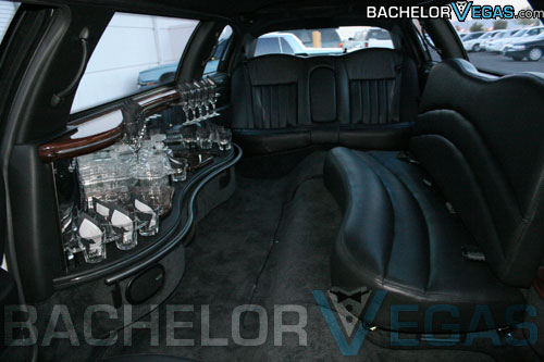 Las Vegas cheap limo interior