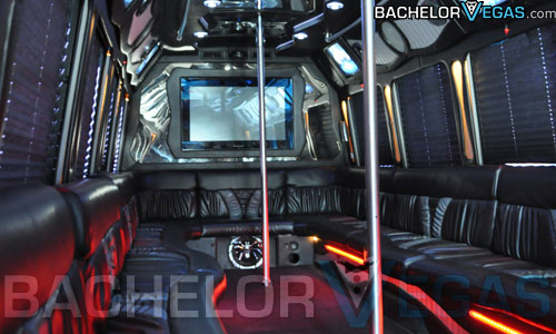 party bus double stripper poles