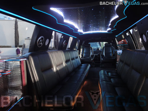 SUV stretch limo interior design