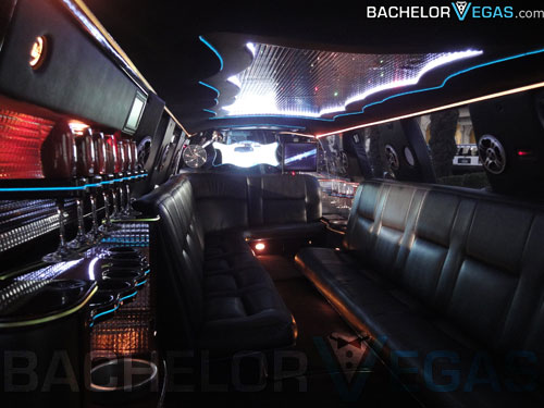 Stretch SUV limo inside