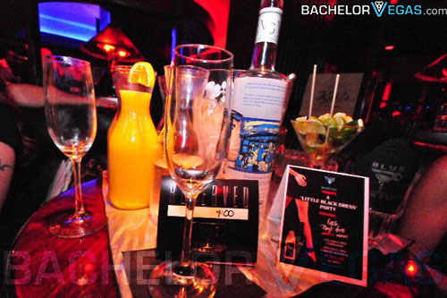 Blue Martini VIP tables