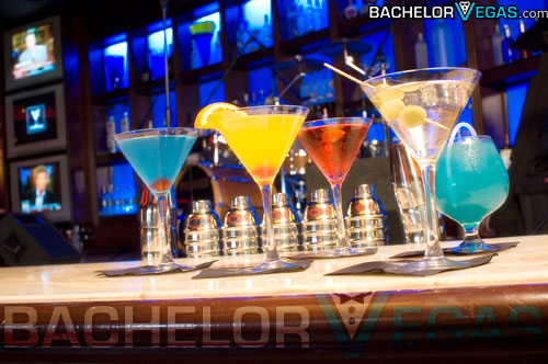 Blue Martini coctails