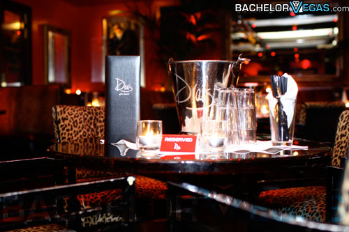 Drais reserved VIP table with bottle service