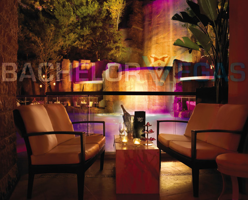 Tryst Nightclub poolside VIP table