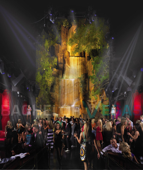 Tryst Nightclub waterfall