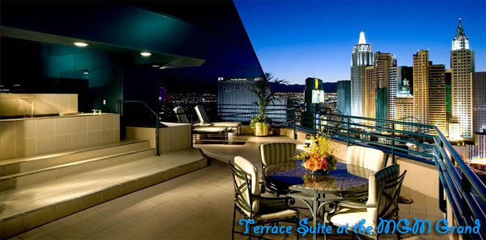 Las vegas bachelor party suites mansions hotels for Terrace party