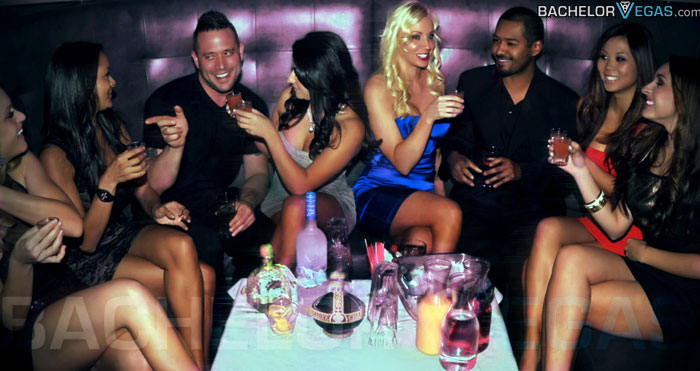 Vegas clubbing with models