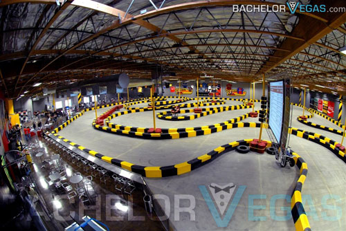 Cart racing Vegas track