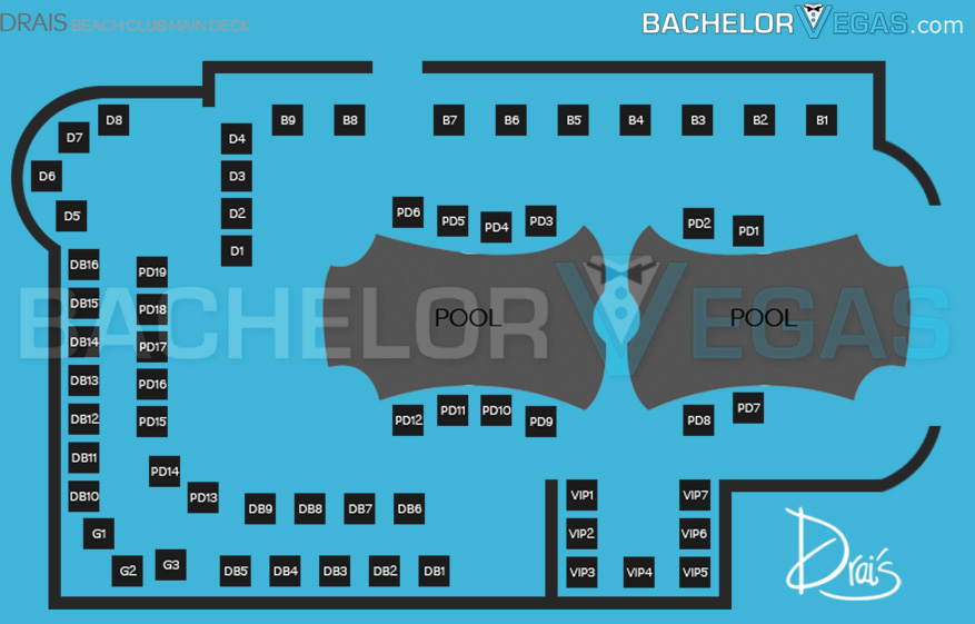 drais beachclub main seating map