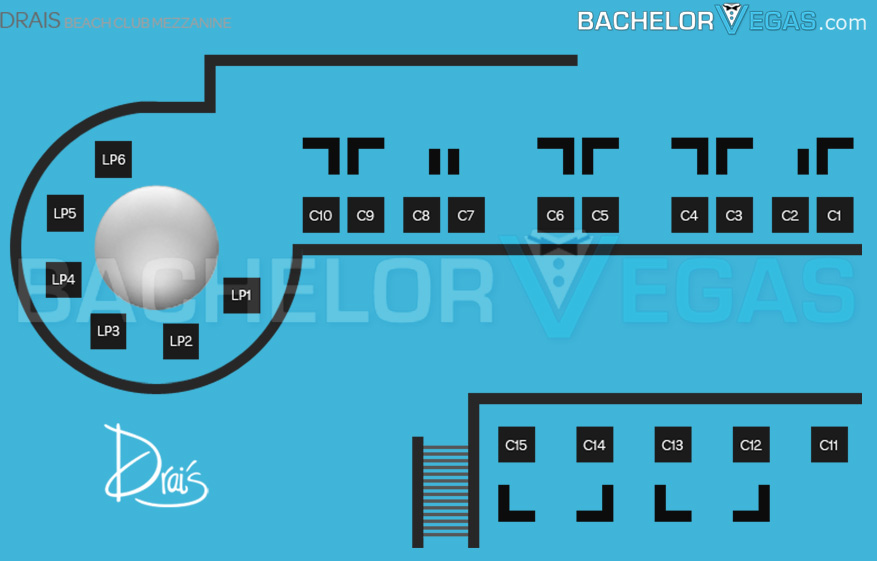 drais beachclub mezzaine seating map