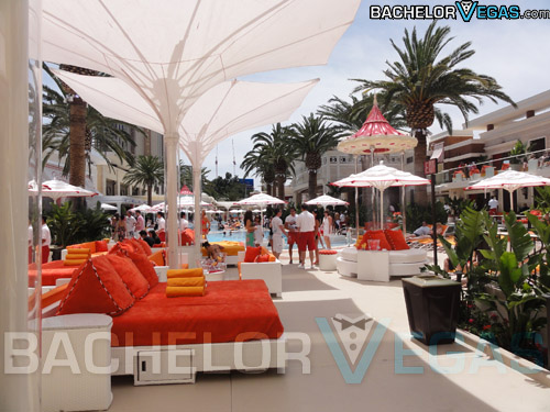 Encore Beach Club VIP daybeds