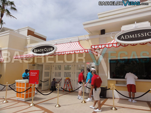 Encore Beach Club entrance