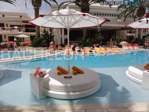 Encore Beach Club lily pads