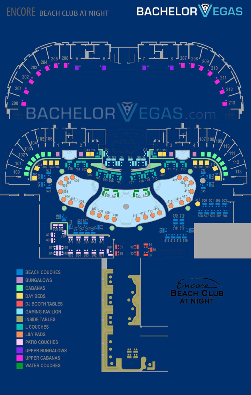 encore beachclub map1
