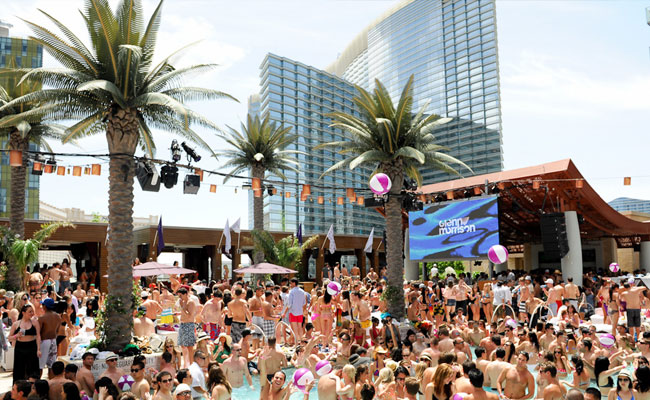 Marquee pool party